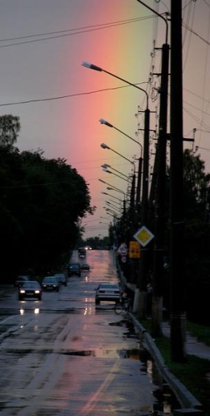 Дзержинск после вечернего ливня